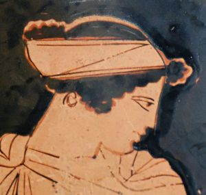 Helen, detail from an Attic red-figure krater, ca. 450–440 BC