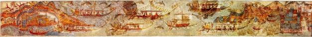 !minoan fleet procession AKROTIRI