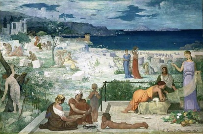 Pierre Cécile Puvis de Chavannes, The Greek Colony, Marseille, 1869