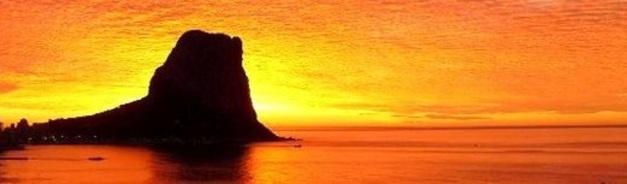 rock at dusk