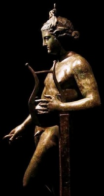 Bronze Apollo with Lyre. Pompeii