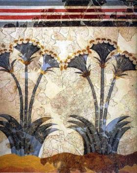Papyrus fresco Akrotiri