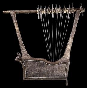 Sumerian silver lyre 2600-2400 BC