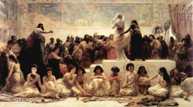 The Babylonian Marriage Market, 1875 Edwin Long inspired by a passage in the Histories by Herodotus