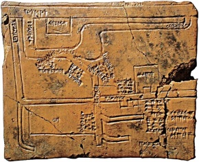Babylonian map of canals & irrigation systems, W of Euphrates-1684-1647 BC