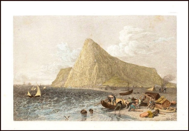 gibraltar-antique-print-1850