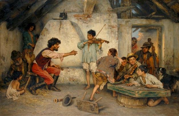 Gypsy school, Janos Valentiny 1896