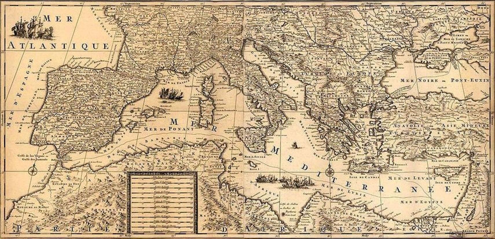Αποτέλεσμα εικόνας για φωτογραφία παλιά χάρτης μεσόγειος