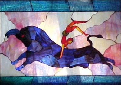 tauro in stained glass