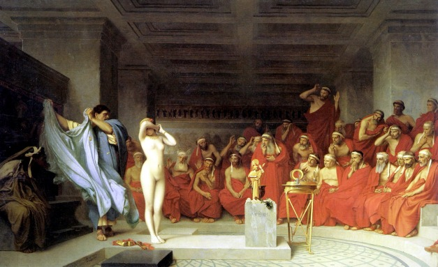Jean-Léon Gérôme - Phryne before the Areopagus - 1861