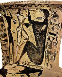 Odysseus Blinding Polyphemus-Early Attic Amphora Black Figured-7 bc