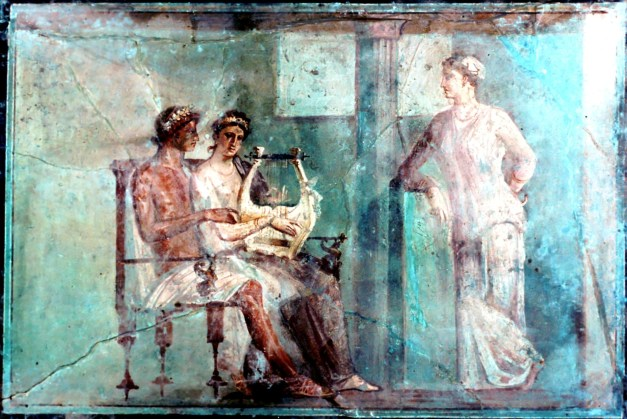 The Music Lesson, early first century AD, from Herculaneum