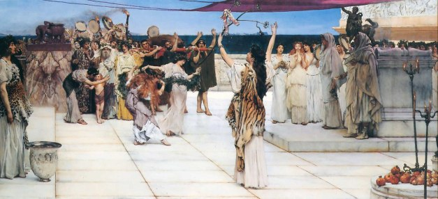 Dedication to Bacchus (Dionysus) Lawrence Alma Tadema